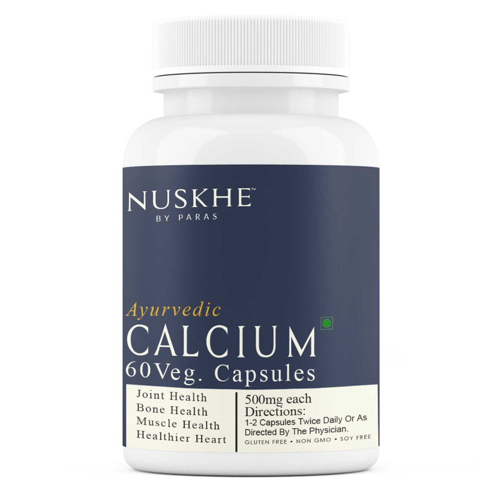 Ayurvedic Calcium Veg Capsules For Bone, Joint, Muscles Health & Healthier Heart, 60 Capsules