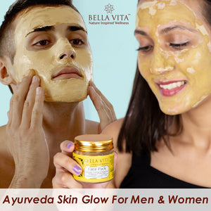 Turmeric Face Pack For Glowing Skin With Sandalwood & Rose, Ayurvedic 60 gm