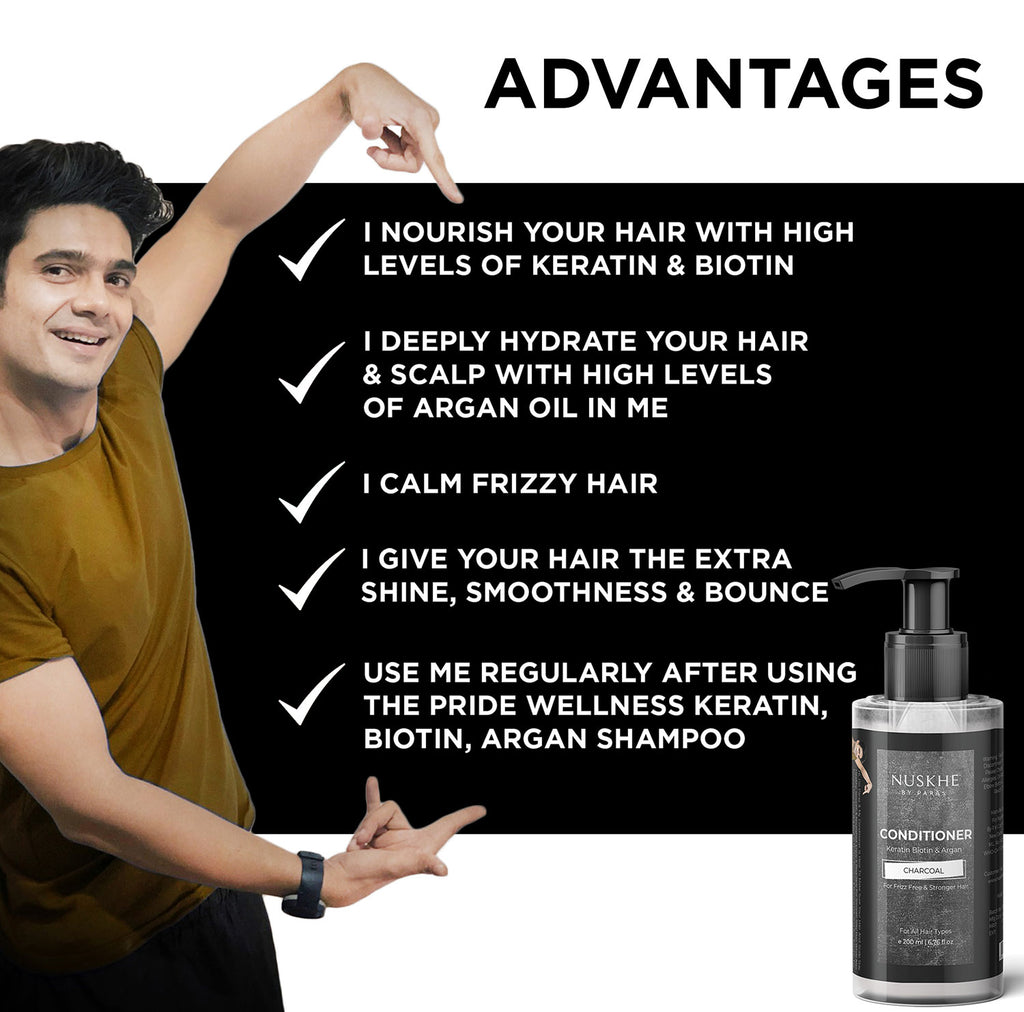 Charcoal Keratin Shampoo & Conditioner Combo For All Hair Concerns