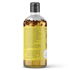 Organic Hair Oil with Real Coffee Beans for Hair Growth & Anti Dandruff, 200ml