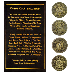 Coins Of Attraction, Manifest Tokens With The Secret Law Of Attraction Charged With Energy - Skin Organ