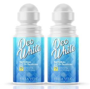 Bella Vita Organic DeoWhite Under Arm Skin Whitening Natural Roll On Deodorant For Men | Pack Of 2
