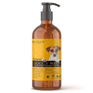 Nuskhe By Paras Doggy Wash Pet Shampoo For Dogs Prevents Tick, Fleas, Nourishes Fur, Cleanses Skin, 200 ml