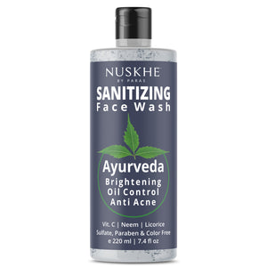 Sanitizing Face Wash For Brightening | Oil Control & Anti Acne, 220ml