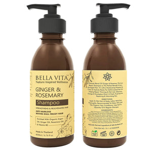 Ginger & Rosemary Hair Growth & No Hair Fall Shampoo for Women & Men, 200ml - Skin Organ