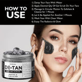De Tan Removal Face Scrub For Men & Women With Charcoal Silver Menthol Lip Balm Scrub For Damaged Lip & Dark Lip Treatment Nicolips Combo - Skin Organ