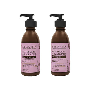 Anti Dandruff Kaffir Lime & Lavender Shampoo (200 ml) & Conditioner (200 ml) combo With Argan Oil & Citrus Oils - Skin Organ