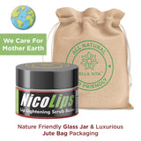 NicoLips Combo Pack | Lip Lightening Scrub Lip Balm For Dark, Dry, Chapped & Damaged Lips - Skin Organ