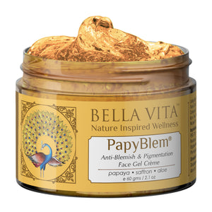 PapyBlem Papaya Gel For Spot Removal, Brightening & Lightening With Papaya & Saffron