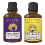 Nail Strong Oil For Strong Cuticles & GrowBrow  For Eye Brows/Lash Hair Growth Serum Combo
