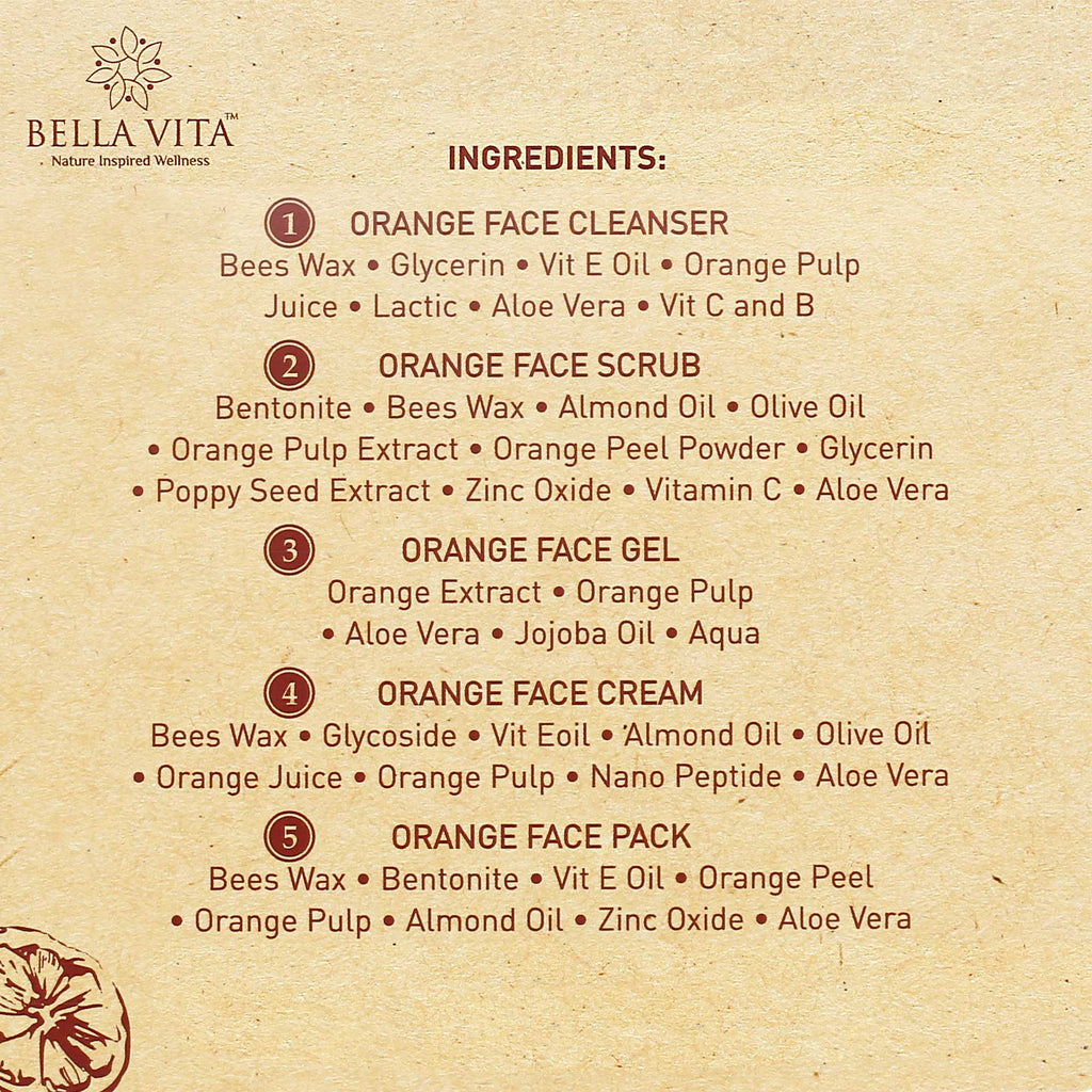 Orange Moisturizing Facial Kit for Oily to Normal Skin(Orange, 50g)- Pack of 5 - Skin Organ