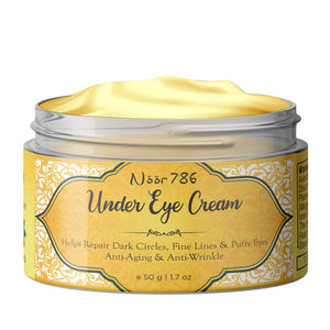 Halal Friendly Under Eye Cream For Dark Circles, Fine Lines & Puffy Eyes, 50g - Skin Organ