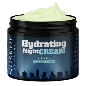 Hydrating Night Cream With Vitamin E & C Extracts For All Skin Types, 100g - Skin Organ