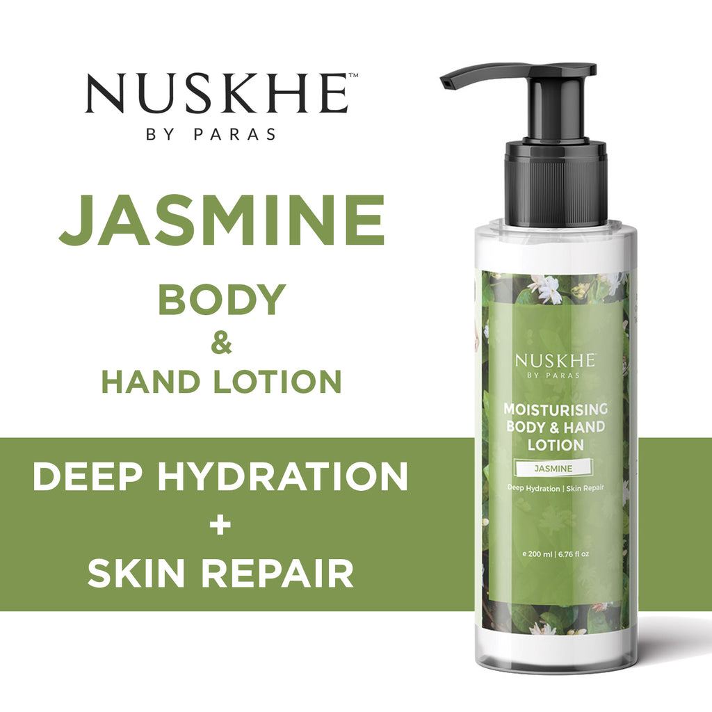 Jasmine Hand & Body Lotion Skin Moisturiser For Deep Hydration & Skin Repair, 100 g - Skin Organ
