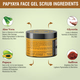 Papaya Face Scrub & Papaya Glow Pack & Papaya Face Cream Trio - Skin Organ