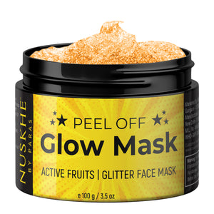 Nuskhe By Paras Brightening Peel Off Glitter Glow Face Mask For Glowing Skin,100g