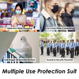 Multi Use Body Protector Suit Reusable PPE Kit 80 Microns Recyclable Plastic Full Protection & Water Resistant