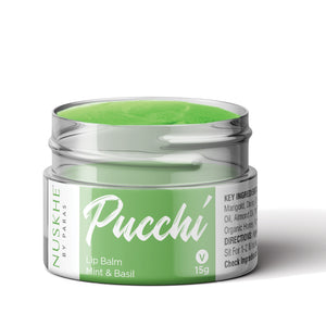Pucchi - Mint & Basil Lip Balm for Women & Men - Skin Organ