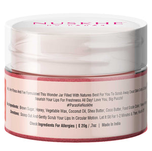 Lip Facial Kit Rose & Licorice Lip Scrub For Dark Lips Lightening, Repair & Chapped Lips, 20g