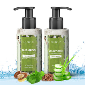 Shampoo & Conditioner Combo with Keratin Biotin & Argan Shampoo For Frizz Free & Stronger Hair For Men & Women, 200 ml - Skin Organ