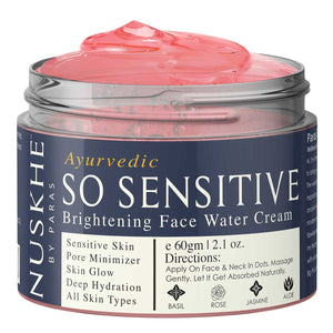 So Sensitive Moisturising Face Water Rose Cream for Skin Glow, 60g