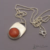 Apple Coral Sterling Silver Pendant and Chain by Holly J Carter