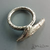 holly j carter, beachwood ring, sterling silver, organics