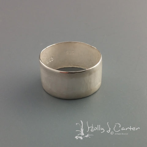 The Hammered Line Sterling Silver Ring