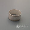 The Hammered Line Sterling Silver Ring handcrafted by metals artist Holly J Carter