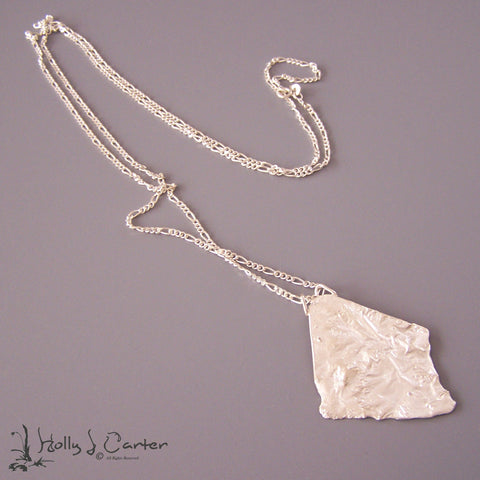 Landscapes Reticulated Sterling Pendant/Necklace
