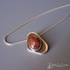 ovoid agate/sterling pendant and chain by holly j carter