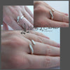 wave ring sterling silver open ended by holly j carter