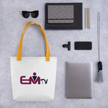 Load image into Gallery viewer, #EMTV Tote bag
