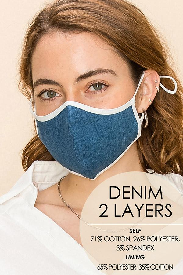 REUSABLE & WASHABLE 2-LAYER MASK