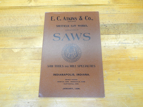 1898 E.C. Atkins & Co Catalog -- Reprint