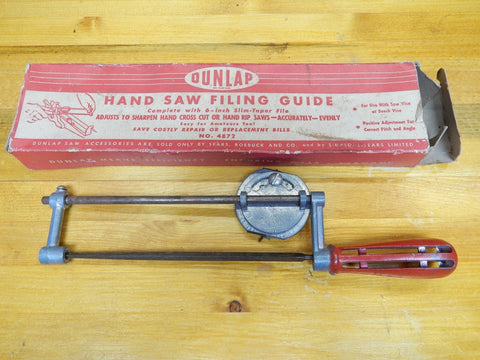Dunlap Hand Saw Filing Guide