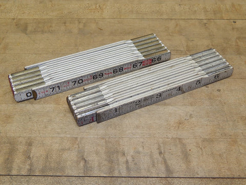 Vintage Lufkin Folding Rules - A Pair (KM)