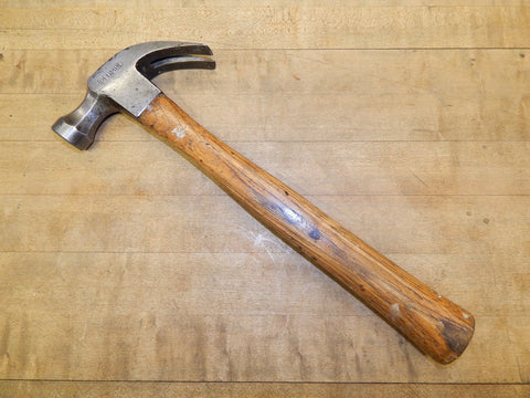 Vintage 16 oz. Plumb Octagonal Head Carpenters Hammer (KM) - Hickory Handle