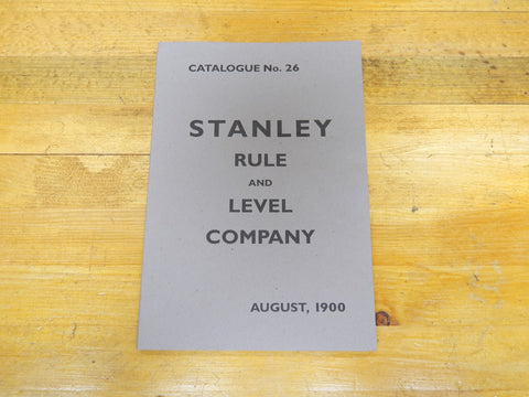 Stanley Rule & Level 1900 Catalog -- Reprint