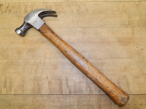 Vintage 16 oz. Stanley Octagonal Head Carpenters Hammer - Hickory Handle (KM)
