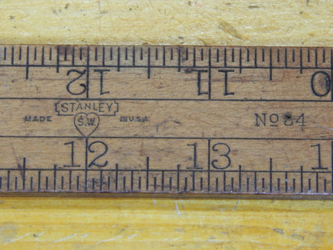 Stanley Sweetheart No 34 Boxwood Ruler 24 Inches Long