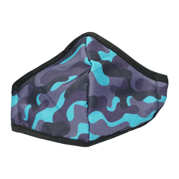 Anti-Microbial Printed Mask (with removable filter) Boys Cammo
