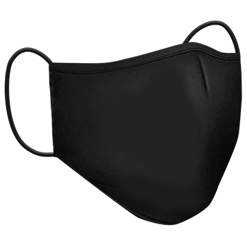 Washable Solid Color Mask Adults - Black