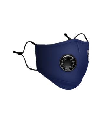 Washable Protective Mask with Respirator - Navy