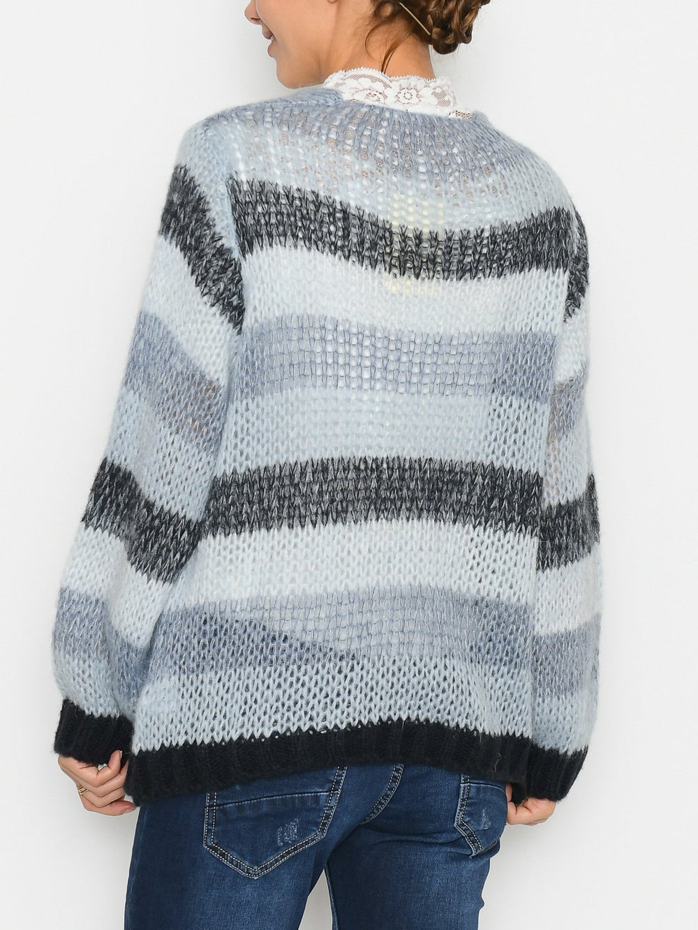Addison cardigan blue - Online-Mode