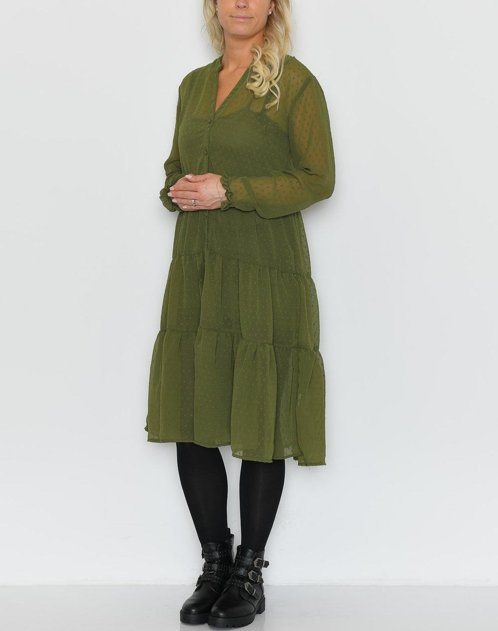 Ally dress olive - Online-Mode
