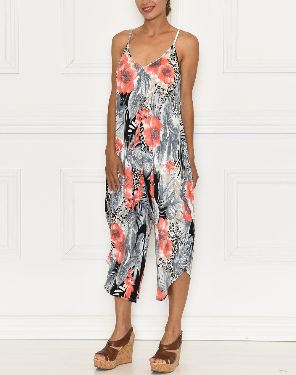Azaria jumpsuit grey/red - Online-Mode