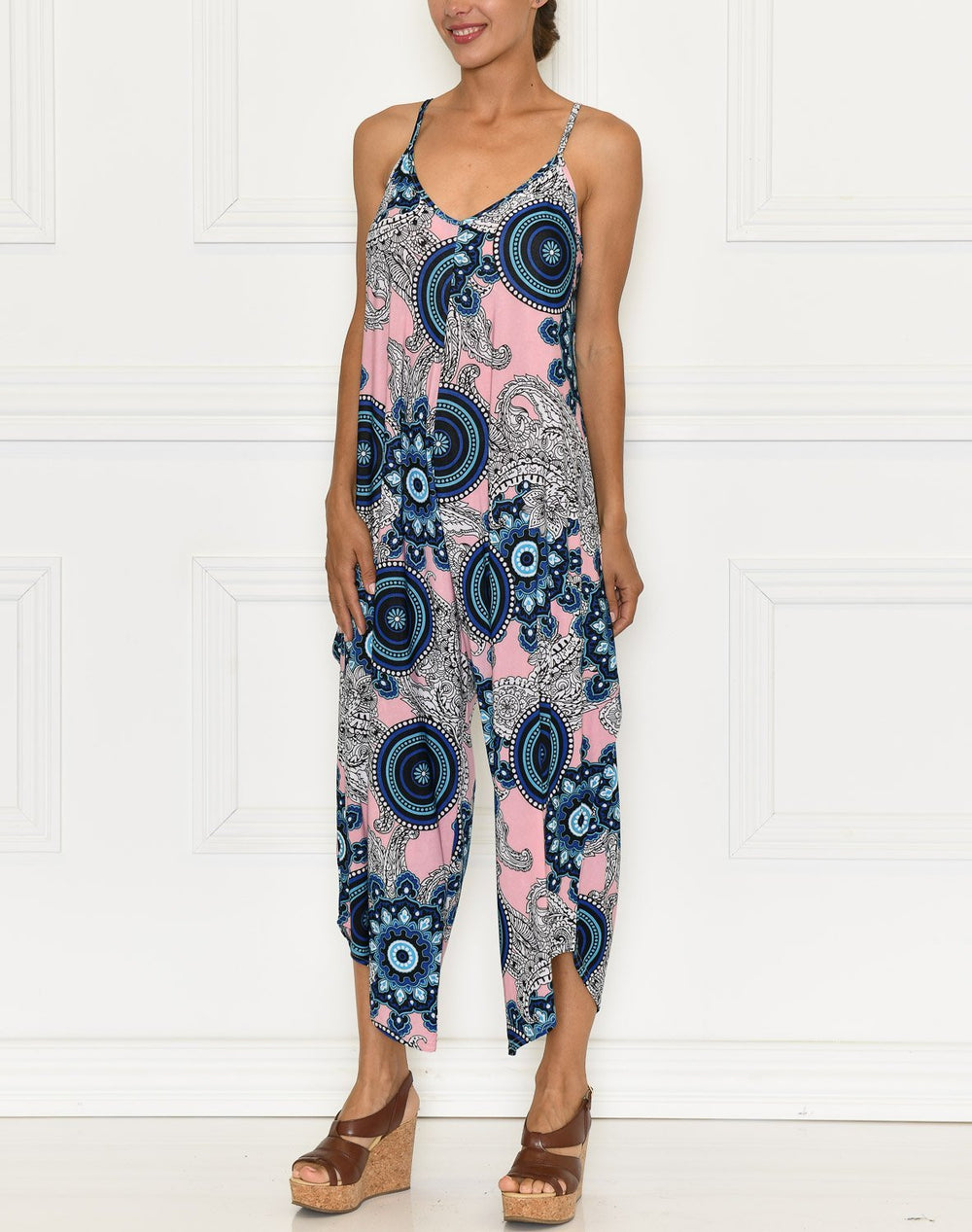 Azaria jumpsuit rose/blue - Online-Mode