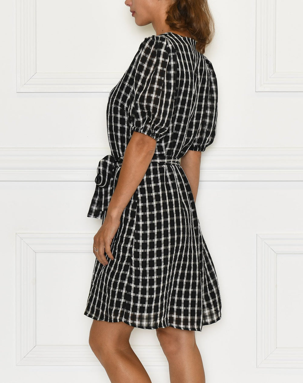 B. Young BYFebbie dress black check combi - Online-Mode