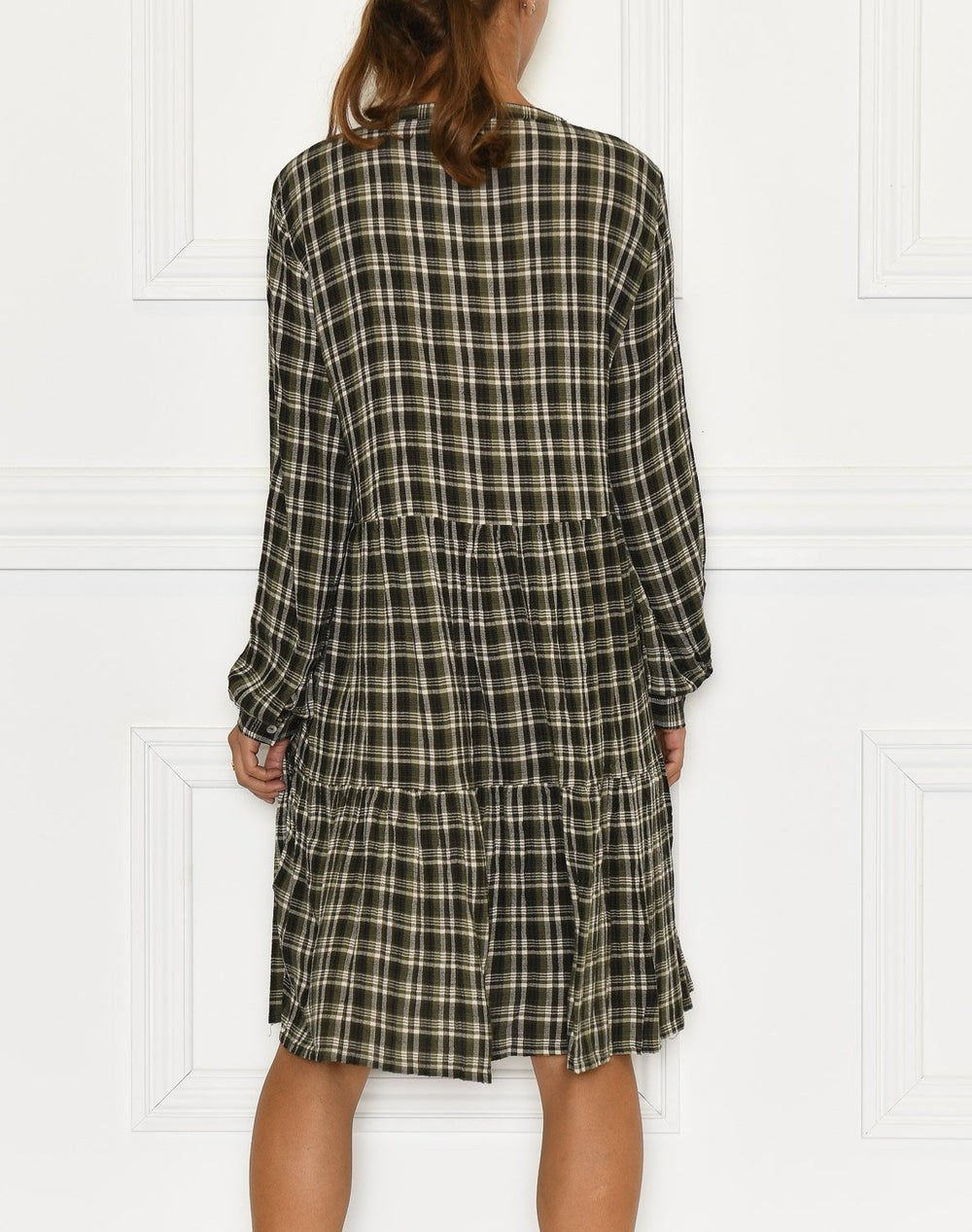 B. Young BYIdalina dress 2 olive night check - Online-Mode